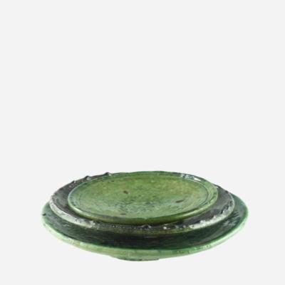 Tallerken – Grøn – 17 cm