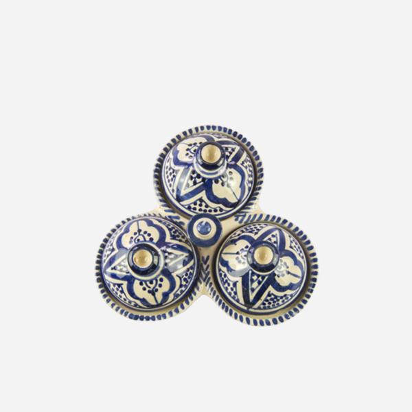 Tredelt – Blå – 12 cm